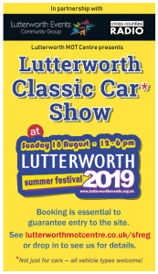 Lutterworth Classic Car Show 2019
